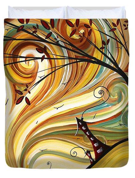 Out West Original Madart Painting Duvet Cover by Megan Duncanson