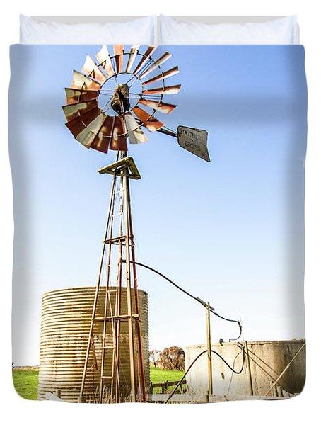 Outback Australian Farm Mill Duvet Cover