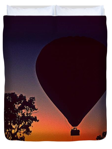 Outback Balloon Launch Duvet Cover