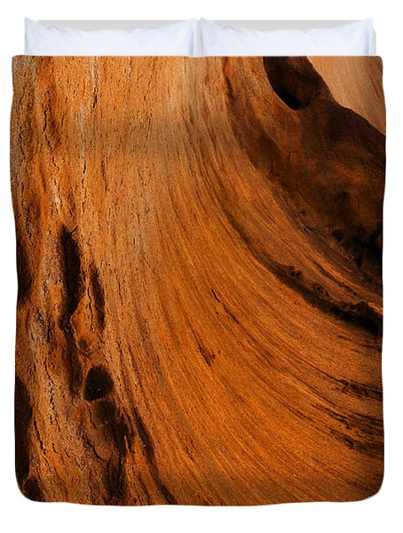 Outback Cavern Duvet Cover by Mike  Dawson