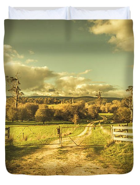 Outback Country Paddock Duvet Cover