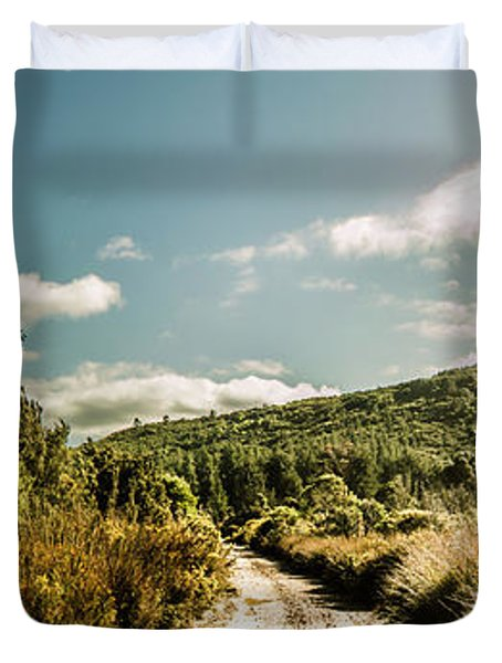 Outback Country Road Panorama Duvet Cover
