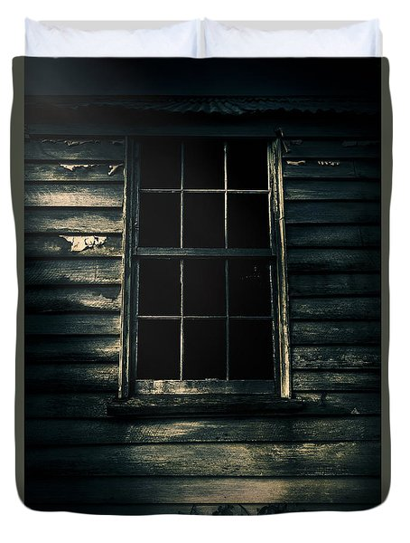 Duvet Cover featuring the photograph Outback House Of Horrors by Jorgo Photography - Wall Art Gallery