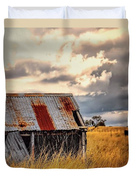 Outback Shed Duvet Cover by Wallaroo Images