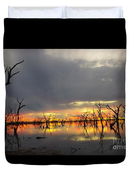 Outback Sunset Duvet Cover by Blair Stuart