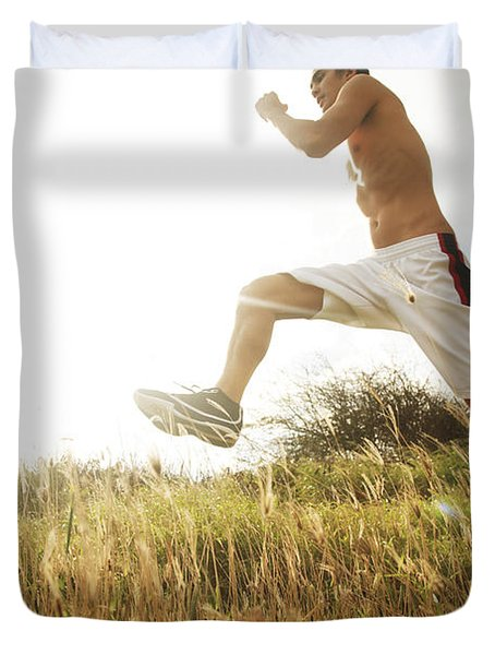 Outdoor Jogging IIi Duvet Cover by Brandon Tabiolo - Printscapes