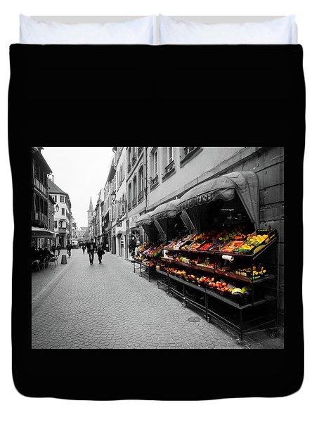 Outdoor Market Duvet Cover