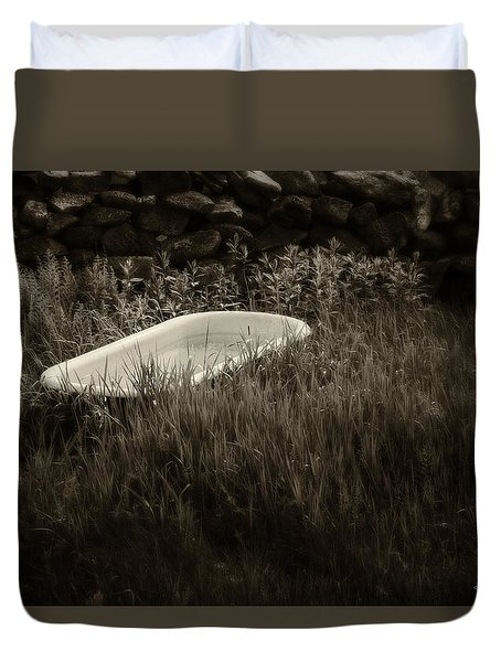 Outdoor Tub Duvet Cover by Denis Lemay