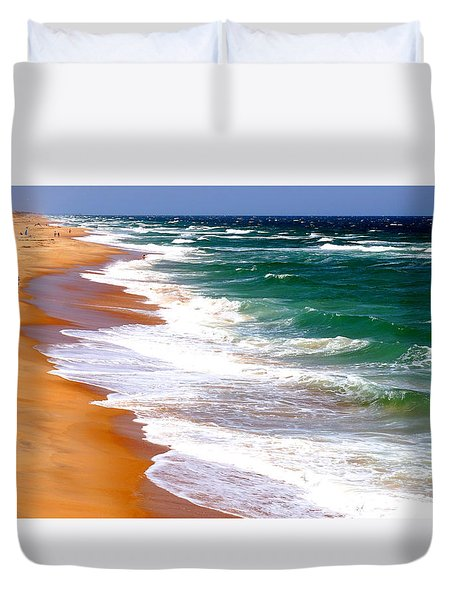 Outer Banks Beach North Carolina Duvet Cover