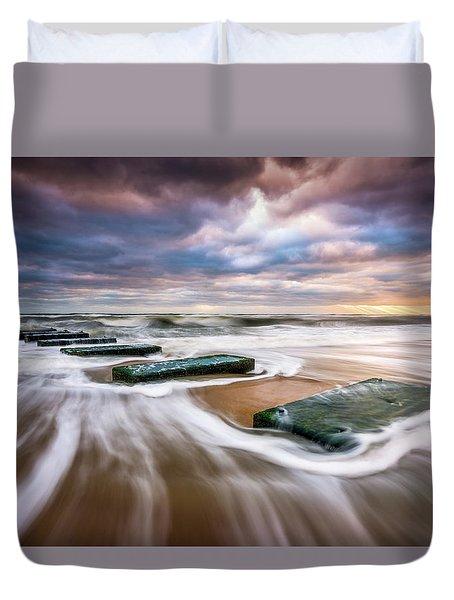 Outer Banks North Carolina Beach Sunrise Seascape Photography Obx Nags Head Nc Duvet Cover