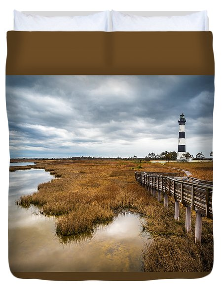Outer Banks North Carolina Bodie Island Lighthouse Landscape Nc Duvet Cover