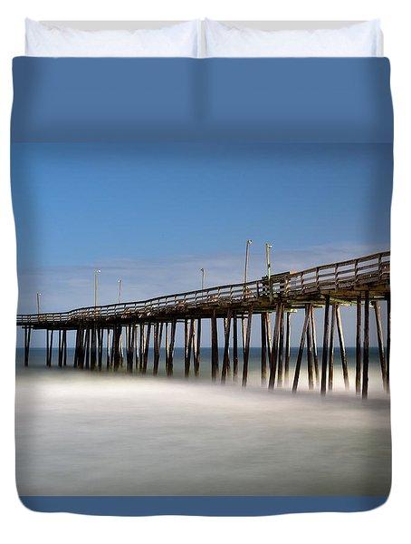 Outer Banks Pier Duvet Cover