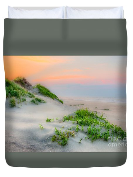 Outer Banks Soft Dune Sunrise Duvet Cover by Dan Carmichael
