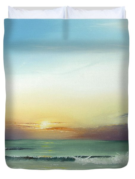 East Coast Sunrise Duvet Cover by Albert Puskaric
