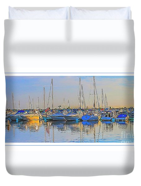 Outer Harbor Marina Duvet Cover