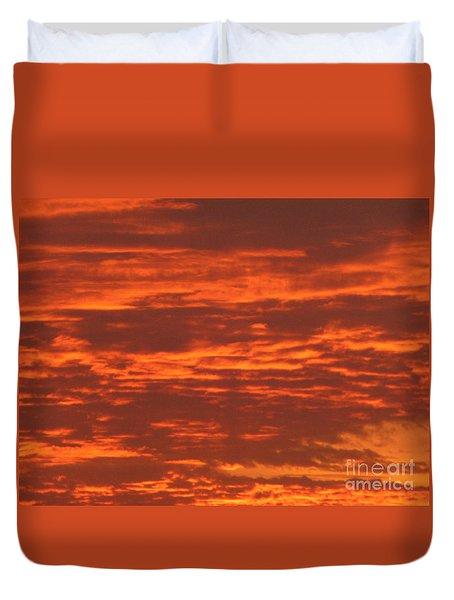 Outrageous Orange Sunrise Duvet Cover