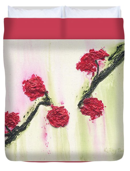 Duvet Cover featuring the painting S R R Seeks Same by Kathryn Riley Parker