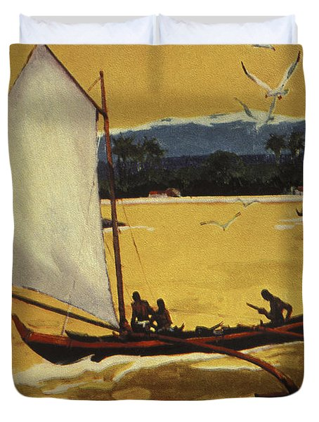 Outrigger Off Shore Duvet Cover by Hawaiian Legacy Archive - Printscapes