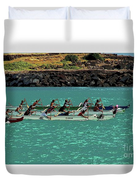Outrigger Racing Duvet Cover