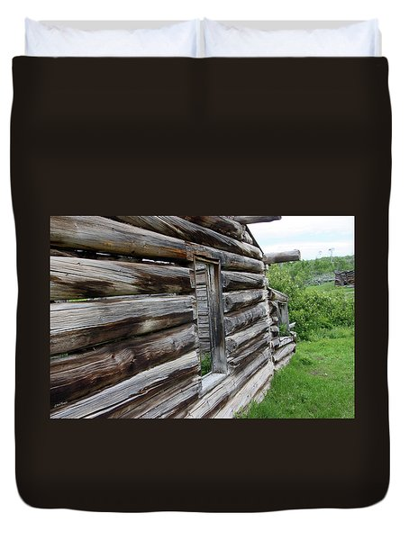 Outside Cabin Window Duvet Cover