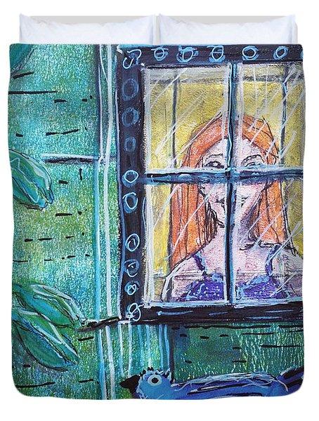 Outside My Window Duvet Cover