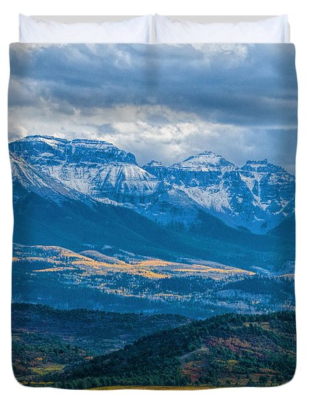 Outside Of Ridgway Duvet Cover by Alana Thrower