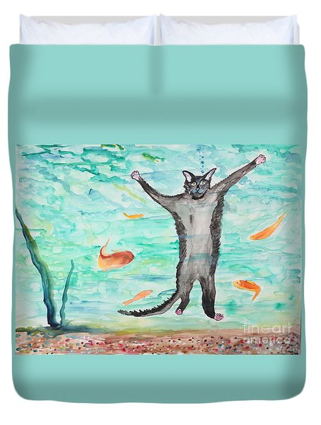 Outside The Fish Tank Duvet Cover
