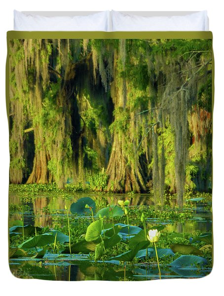 Outstanding Lotus Duvet Cover by Kimo Fernandez
