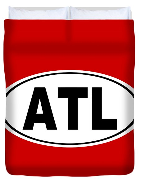 Duvet Cover featuring the photograph Oval Atl Atlanta Georgia Home Pride by Keith Webber Jr