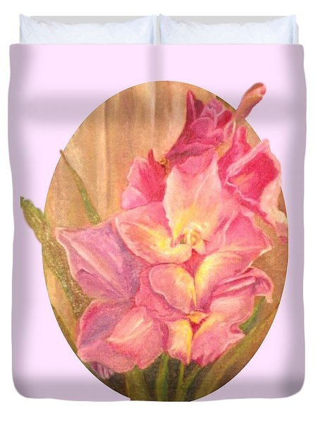 Oval Gladiolas               11x14 Duvet Cover