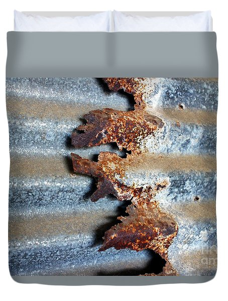 Duvet Cover featuring the photograph Over And Above by Stephen Mitchell