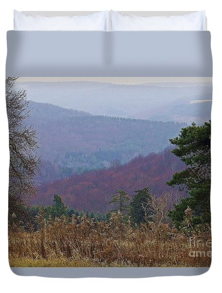 Duvet Cover featuring the photograph Over And Over And Over by Christian Mattison