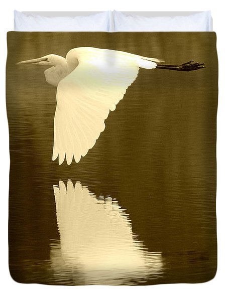 Over Golden Pond Duvet Cover by Carol Groenen