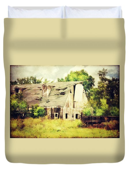 Duvet Cover featuring the photograph Over Grown by Julie Hamilton