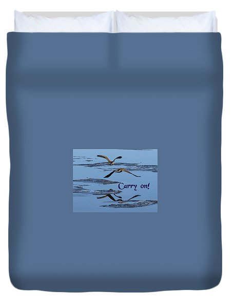 Over Icy Waters Carry On Duvet Cover by DeeLon Merritt