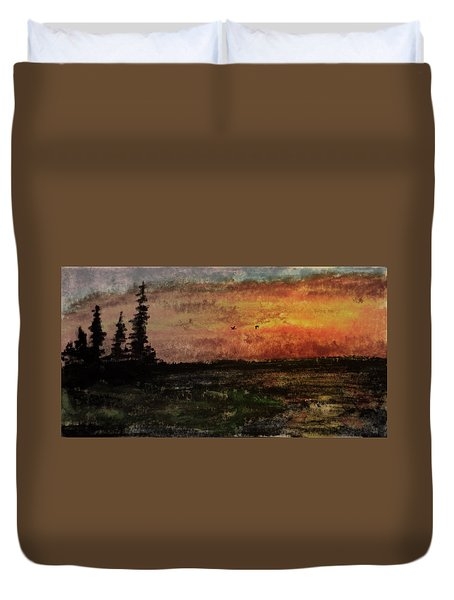Over Nowhere North Duvet Cover by R Kyllo