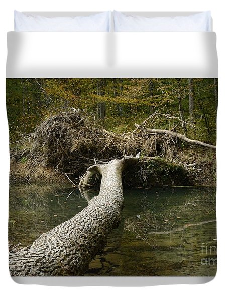 Over On Clover Duvet Cover by Randy Bodkins