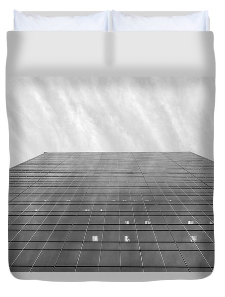 Duvet Cover featuring the photograph Over The City by Valentino Visentini