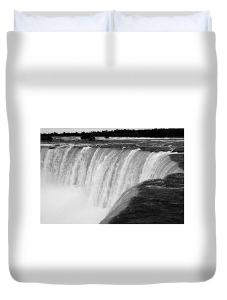Over The Dam Duvet Cover