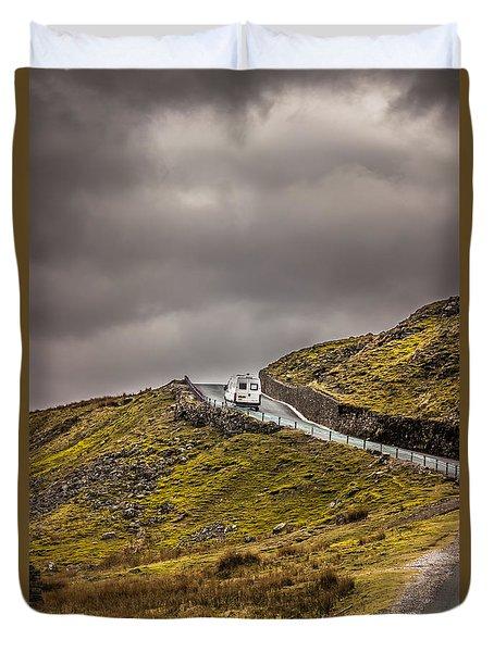 Over The Edge Duvet Cover by David Warrington