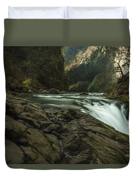 Over The Edge Signed Duvet Cover
