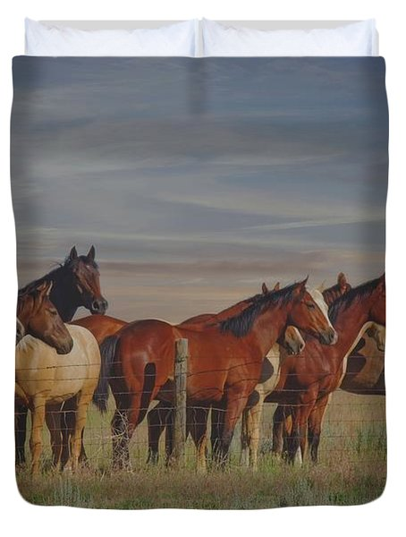 Over The Fenceline Duvet Cover