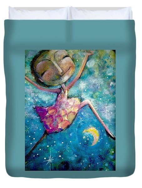 Over The Moon Duvet Cover