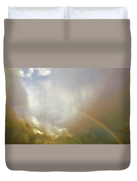 Duvet Cover featuring the photograph Over The Rainbow by Deborah Moen