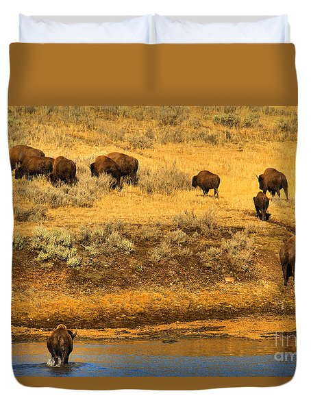 Duvet Cover featuring the photograph Over The River And Up The Hill by Adam Jewell