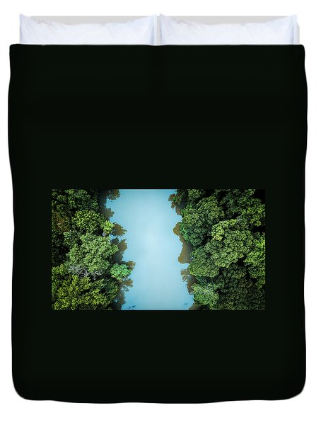 Over The River Duvet Cover