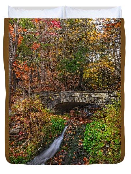 Over The Stream Duvet Cover by Mark Papke