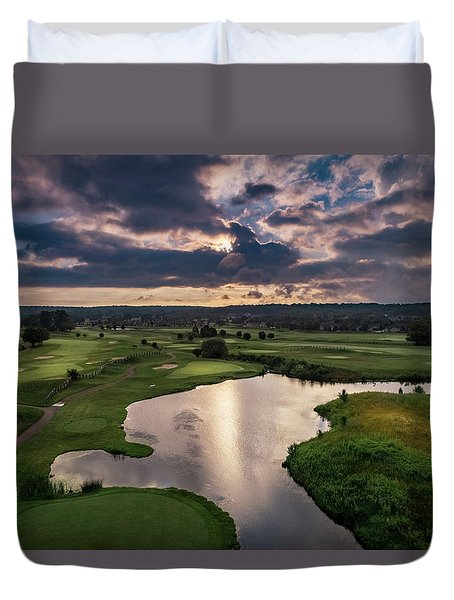 Over The Water Duvet Cover