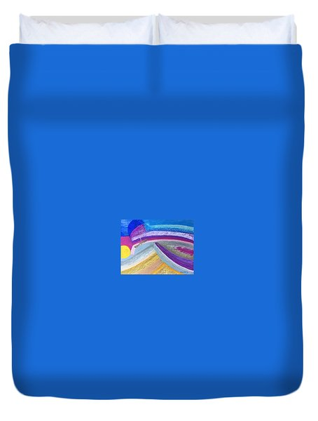 Over The Waves Duvet Cover