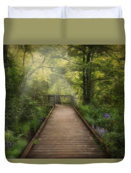 Over The Wetlands Duvet Cover
